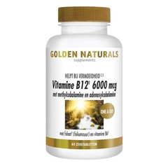 Golden Naturals Vitamin B12 6000 µg Vega 60 Lutschtabletten