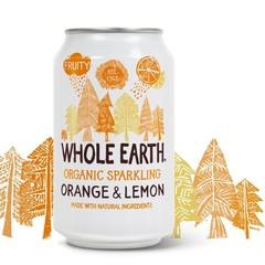 Whole Earth Ganze Erde Sprudelnde Orange / Zitrone 330 ml