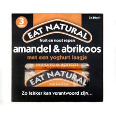 Eat Natural Essen Sie natürlichen Mandel-Aprikosen-Joghurt 3 x 50 Gramm 150 Gramm