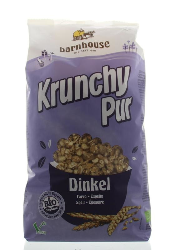 Barnhouse Barnhouse Krunchy Pur Dinkel ohne Zucker 750 Gramm