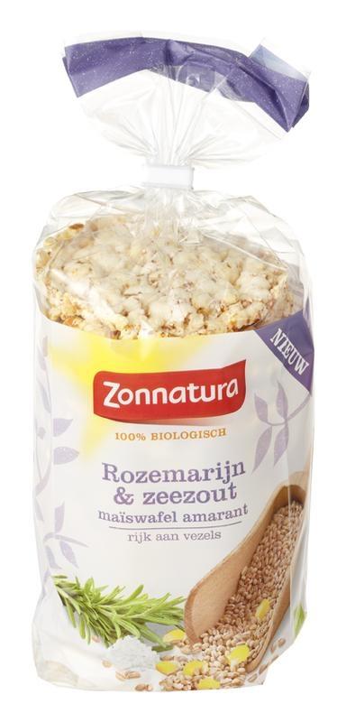 Zonnatura Zonnatura Corn Waffel Amaranth Rosmarin Meersalz 100 Gramm