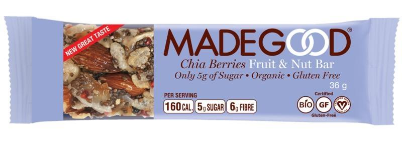 Made Good Made Good Fruit & Nussriegel rohe Chia-Beeren 36 Gramm