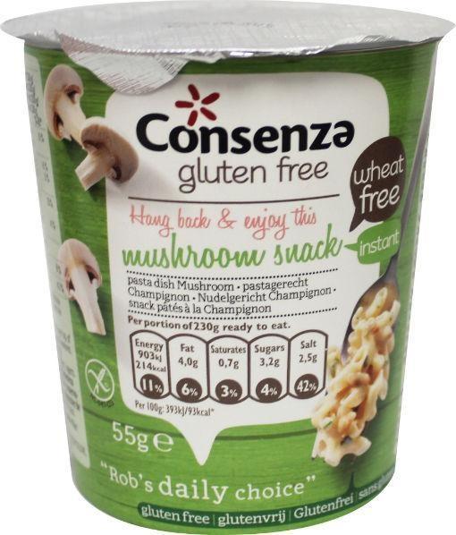 Consenza Consenza Instant Makkaroni mit Pilz 55 Gramm