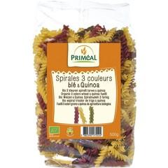 Primeal Organic Fusilli 3 Farben Weizen Quinoa 500 Gramm
