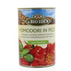 Bioidea Tomatenstücke Basilikum 400 Gramm