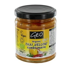 Geo Organics Curry Paste Thai Gelb 180 Gramm