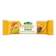Allos Fruchtriegel Dattel / Orange 30 Gramm