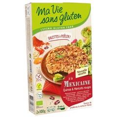 Ma Vie Sans Quinoa Burger mit roten Bohnen bio - glutenfrei 100g 2 Stück