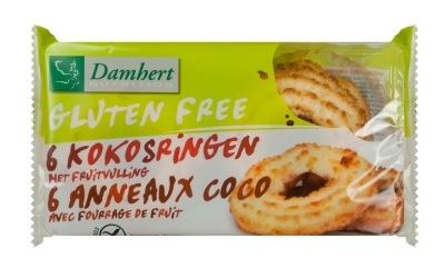Damhert Damhert Kokosringe Fruchtfüllung glutenfrei 240 Gramm