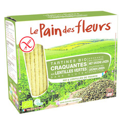 Pain Des Fleurs Crackers grüne Linsen 150 Gramm