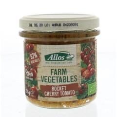 Allos Bauerngemüse Rucola & Kirschtomate 135 Gramm