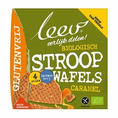 Leev Bio Stroopwafels Karamell glutenfrei 120 Gramm