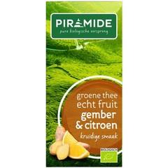 Piramide Pyramide Grüner Tee mit Ingwer und Zitrone 20 Stück