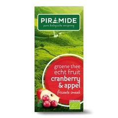 Piramide Pyramide Grüntee Cranberry / Apfel 20 Beutel