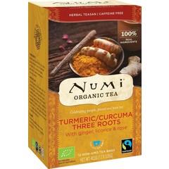 Numi Kurkuma Tee drei Wurzeln 12 Stück
