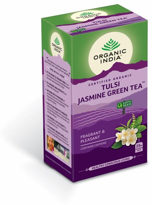 Organic India Organic India Bio India Tulsi Jasmin Grüntee Bio 25 Beutel