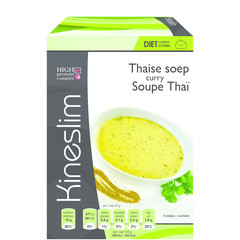 Kineslim Suppe Thai Curry 4 Stück