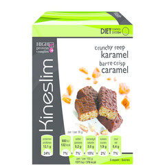 Kineslim Crunch Riegel Karamell 3 Stück