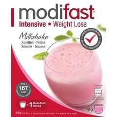 Modifast Intensive Erdbeer-Milchshake 8 Beutel 440 Gramm