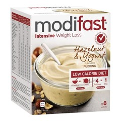 Modifast Intensive Pudding Haselnuss & Joghurt 8 Beutel mit 416 Gramm