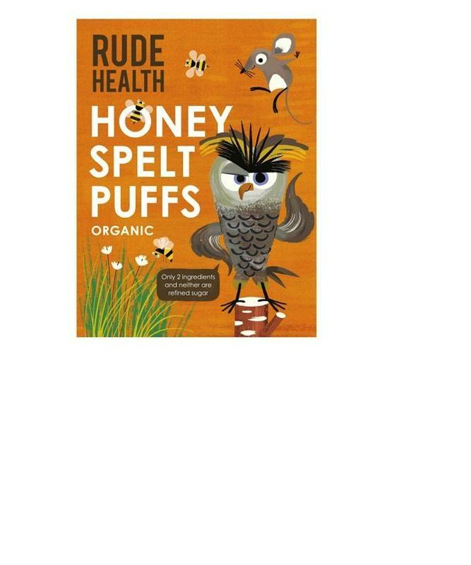Rude Health Rude Health Unhöfliche Gesundheit Honig Dinkel Züge 175 Gramm