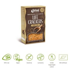 Lifefood Life Cracker Chia Leinsamen 80 Gramm