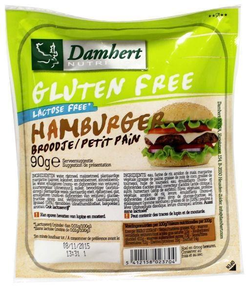 Damhert Damhert Hamburgerbrot glutenfrei 90 Gramm