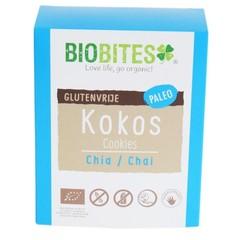 Biobites Rohkost Kokosnuss beißt Chia / Chai 65 Gramm