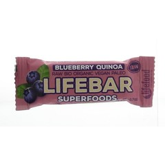 Lifefood Lifebar plus Heidelbeer-Quinoa Bio 47 Gramm