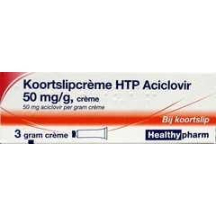 Healthypharm Fieberbläschen Creme Aciclovir 3 Gramm