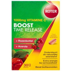 Roter Vitamin C 1000 mg Pro Boost Time setzte 30 Tabletten frei