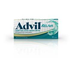 Advil Advil reliva Flüssigkeitskappen 200 10 Kapseln.