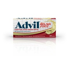 Advil Advil reliva flüssige Kappen 400 mg 20 Kapseln.