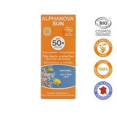 Alphanova Sun Sun vegan gefärbte Tagescreme SPF50 mittlerer Farbton 50 Gramm
