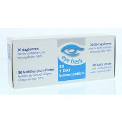 Eyefresh Tageslinsen -2,50 30 Stück