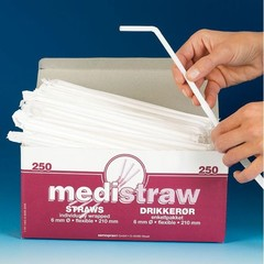 Blockland Trinkhalme pl flexible Mediware 250 Stück