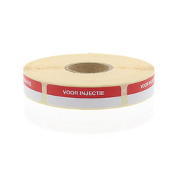 Blockland Streifenetikett zur Injektion 44 x 11 mm 750 Stk