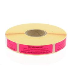 Blockland Streifenetikett für Kinder? Folsäure 44 x 11 mm 750 Stk