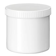 Blockland Salbenglas weiß PP Plastobel verschlossen 500 ml 24 Stück