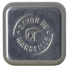 Aleppo Soap Co Aluminium-Seifenkiste leer für Marseille-Seife