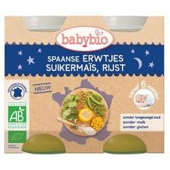 Babybio Gemüse Erbsen Mais Reis 200 Gramm 2 Stück