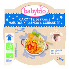 Babybio Mon Petit Flat Karotte Mais Quinoa 230 Gramm