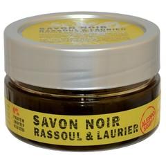 Aleppo Soap Co Schwarze Seife Rassoul und Lorbeer 140 Gramm