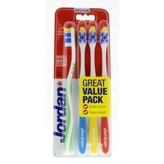 Jordan Zahnbürste totalclean Medium 4 Stk