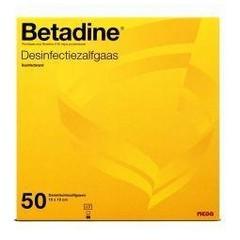 Betadine Desinfektionssalbe Gaze 50 Stk