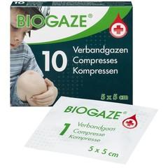 Biogaze 5 x 5 cm 10 Stück