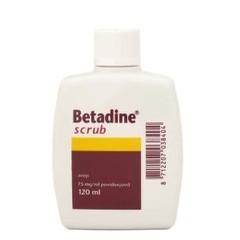 Betadine 120 ml schrubben