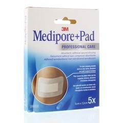 3M Medipore 5 x 7,2 cm selbstklebendes Wunderband 5 Stück