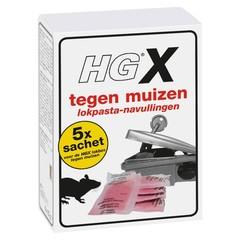HG X Köderpaste gegen Mäuse füllen 5 Beutel nach