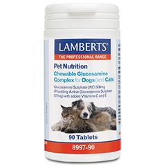 Lamberts Glucosamin Kautabletten für Hunde und Katzen 90 Tabletten